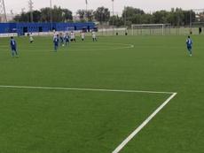La colegiada dirigió el partido entre el Getafe B y el Peña Deportiva. Twitter/GetafeCF