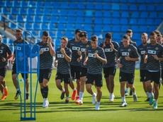 El Hércules seguirá siendo entrenado por Végar. Twitter/cfhercules