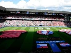 Saint-Éttiene fue sede en la Eurocopa de Francia 2016. EFE