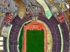 El estadio, completamente abarrotado. Instagram/Mehrdad Nikmard