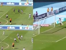 Marinho hizo uno de los goles de la jornada. Captura/EsportInteractivo