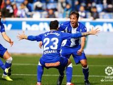 Tomás Pina abrió el marcador ante el Valladolid. LaLiga