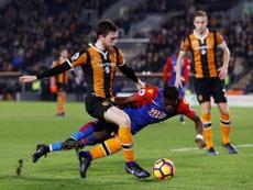 Les joueurs de Hull City et Crystal Palace lors d'un match de Premier League. HullCity
