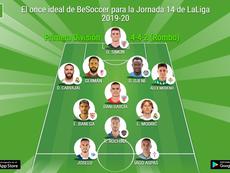 El once ideal de BeSoccer para la Jornada 14 de LaLiga 2019-20. BeSoccer