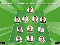 El once ideal de BeSoccer para la Jornada 2 de LaLiga 2019-20. BeSoccer
