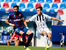El Levante venció por 3-1 al Castellón en el Ciutat de València. Twitter/LevanteUD