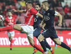 El Benfica sufrió para ganar a Belenenses. AFP