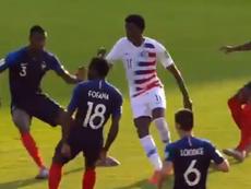 EEUU superó a Francia por 2-3. Captura/GOL