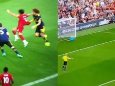 Salah anotó el segundo de penalti. Captura/SkySports