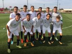 El Sevilla dijo adiós a la Youth League con victoria, pero no le sirvió de nada. Twitter/CanteraSFC