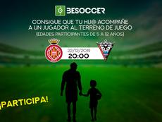Consigue que tu hij@ acompañe a un jugador en el Girona-Mirandés. BeSoccer