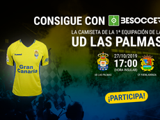 Consigue la camiseta de Las Palmas y una entrada doble para el partido ante el Fuenlabrada. BeSoccer