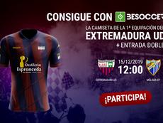 Consigue una camiseta del Extremadura y una entrada para el duelo ante el Málaga. BeSoccer