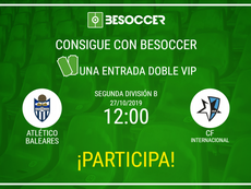 Consigue una entrada doble VIP para el Atlético Baleares-CF Internacional. BeSoccer