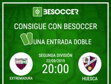 Consigue una entrada doble para el Extremadura-Huesca. BeSoccer