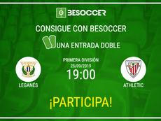 Consigue una entrada doble para el Leganés-Athletic. BeSoccer