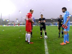 San Marino rescued a draw. Captura/UEFA