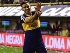 Salvio celebró el gol de Boca como el personaje Goku. Twitter/BocaJrsOficial