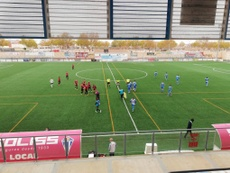 El Villarrubia empató 'in extremis' frente al Melilla. Twitter/formacvillarrub