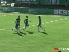 Pozuelo y Paracuellos empataron a dos goles. Captura/CFPozuelo