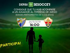 Consigue que tu hijo acompañe a un jugador en el Málaga-Elche. BeSoccer