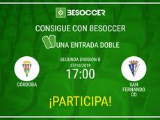 Consigue una entrada doble para el Córdoba-San Fernando CD. BeSoccer