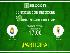 Consigue una entrada doble VIP para el Las Palmas-Real Oviedo. BeSoccer
