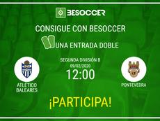 Consigue una entrada doble par el Atlético Baleares-Pontevedra. BeSoccer