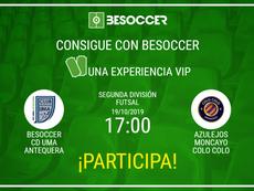 Consigue una experiencia VIP en el BeSoccer CD UMA Antequera-Azulejos Moncayo Colo Colo. BeSoccer
