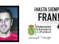 Fran Cavada falleció sobre el terreno de juego. Twitter/fcf_es