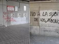Así amaneció el Estadio de Vallecas. Capturas/UniónRayo