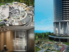 Ascenseur de voitures, 60 étages et vue sur mer. PorscheDesignTowerMiami