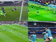 El City arrasó en 25 minutos al Chelsea. Capturas/SkySports/Movistar
