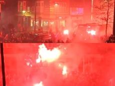 Gran recibimiento al Willem II antes de convertirse en finalista de Copa. Twitter/ESPN