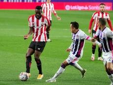 Williams lamentó las últimas ocasiones del Athletic para empatar. EFE/R. García