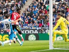 Iñaki Williams denunciou insultos racistas de torcedores do Espanyol. Twitter/AthleticClub