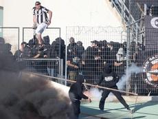 Incidentes en la previa de la final de la copa griega. Twitter