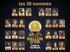 candidatos al Balón de Oro 2017. FranceFootball