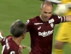 Iniesta reste sur sa lancée : but pour donner une nouvelle victoire aux siens. Capture/DAZN