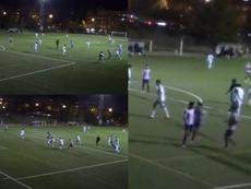 El hijo del Cholo se fue de varios defensores y marcó un gol de bandera. Instagram/giulisimeone