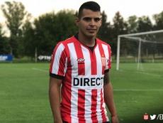 El centrocampista se mostró ilusionado con su nueva etapa. EstudiantesdeLaPlata
