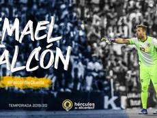 Así anunció el Hércules la renovación de Falcón. Twitter/cfhercules
