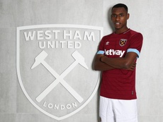 Diop, el prometedor central que quiere Solskjer. Twitter/WestHamUtd