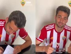 Martos firmó contrato hasta 2024. Capturas/ADAlmeria