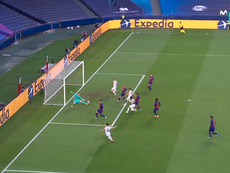 Bayern put Barca to the sword in the first half. Captura/MovistarLigadeCampeones