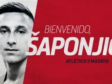O Atlético confirma a chegada de Saponjic. AtléticoDeMadrid