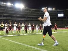 Follmann realizó el saque de honor. TorinoFC