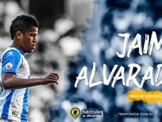 Jaime Alvarado seguirá en el Hércules hasta junio de 2020. Twitter/CFHércules