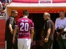 Valdés salió llorando del campo. Captura/CDF