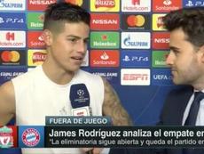 James Rodríguez abrió el abanico de futuro. Captura/FOXSports